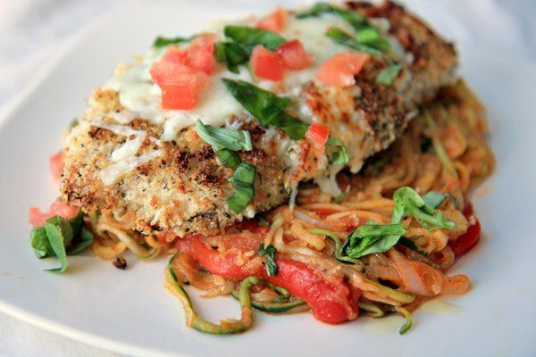 Chicken Parmigiana with Zucchini Noodles low carbReduce Weights, Low Carb Diet, Weight Loss, Quick Weights, Stuffed Mushrooms, Lose Weights, Loss Weights Loss Ideas, Healthy Recipe, Weightloss