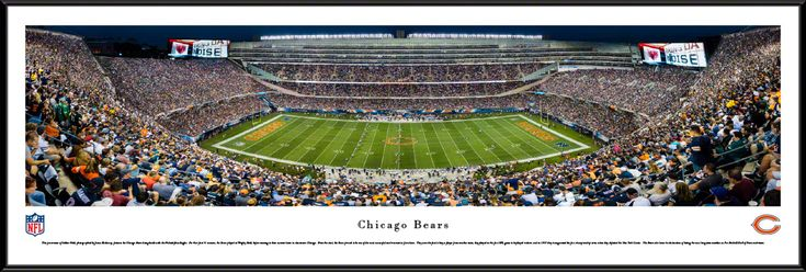 Chicago Bears Panoramic Picture - Soldier Field Stadium Panorama - Standard Frame $99.95
