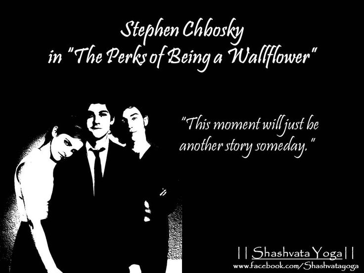 """""""This moment will just be another story someday.""""  - Stephen Chbosky in """"The Perks of Being a Wallflower""""  #ShashvataYoga #YogaInAurangabad #DailyGyaan #StephenChbosky #PerksofBeingaWallflower"""