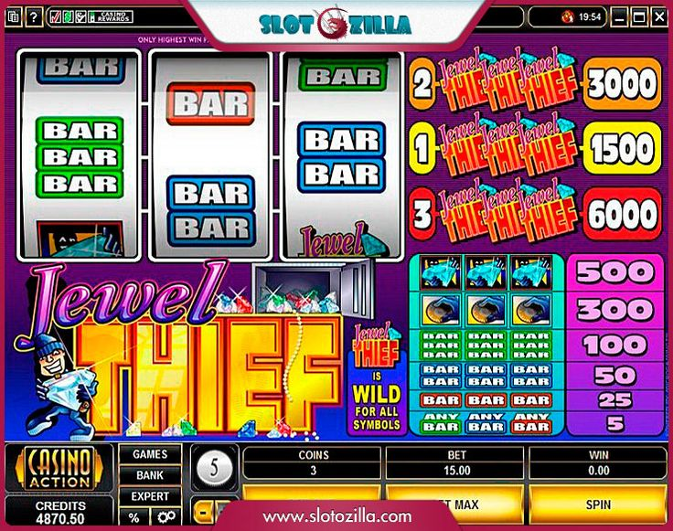 Jewel Thief free #slot_machine #game presented by www.Slotozilla.com - World's biggest source of #free_slots where you can play slots for fun, free of charge, instantly online (no download or registration required) . So, spin some reels at Slotozilla! Jewel Thief slots direct link: http://www.slotozilla.com/free-slots/jewel-thief