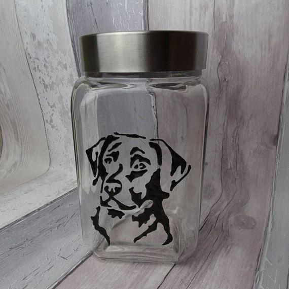 Labrador hand painted dog treat jar Dog gift Dog biscuit