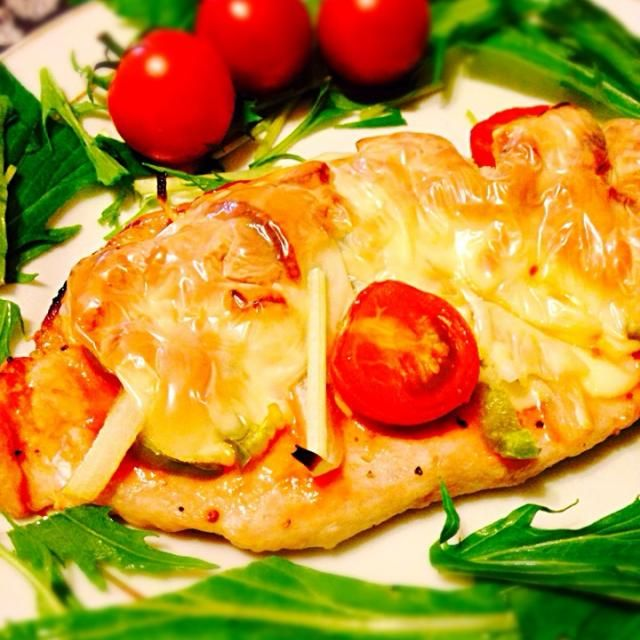何かの雑誌で見たレシピをオリジナルにアレンジしてみました〜(*^o^*) - 8件のもぐもぐ - 豚肉のピザ焼き by rukamama0701