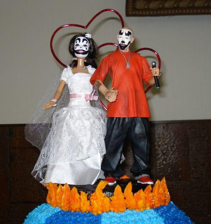 Juggalo Wedding Cake Toppers