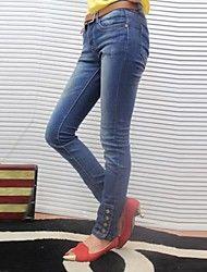Dambyxor  ( Denim ) Jeans  -  Mellan  -  Mikro-elastiskt