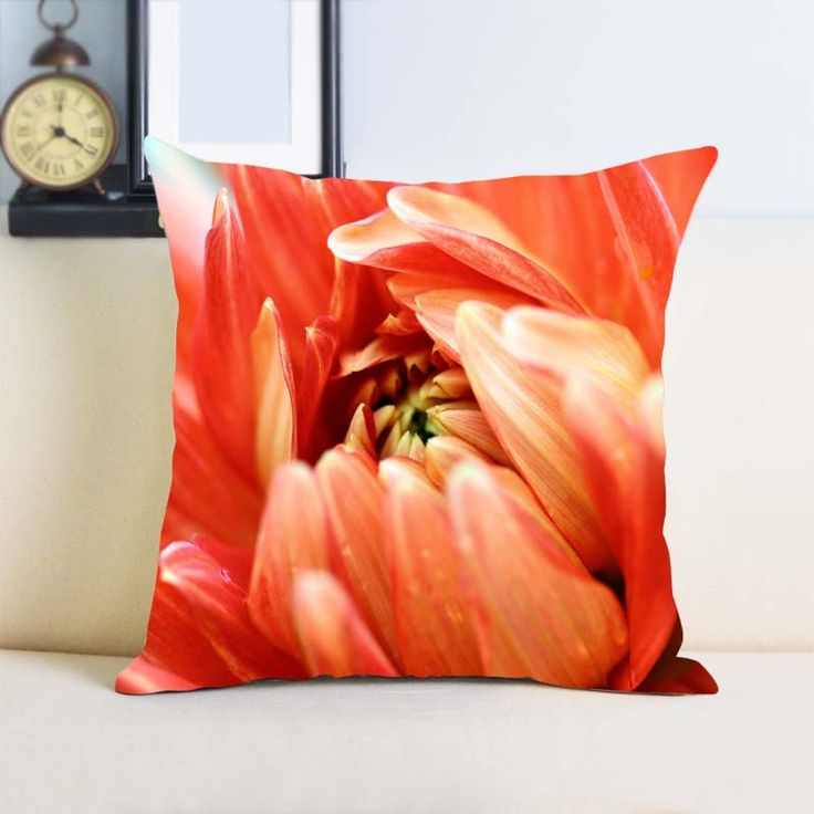Orange Passion  Custom Cushion Covers for Sofa Throw Pillow Bedding Set Two Sides Printing