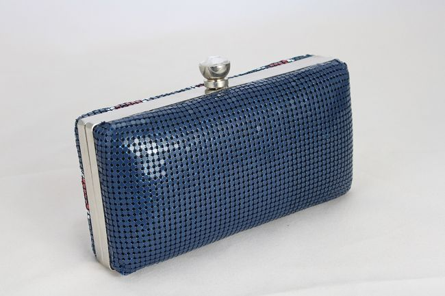 Hot Dusty Blue Metal Handbag With Cheapest Price $47.98 Offered By Prinkko