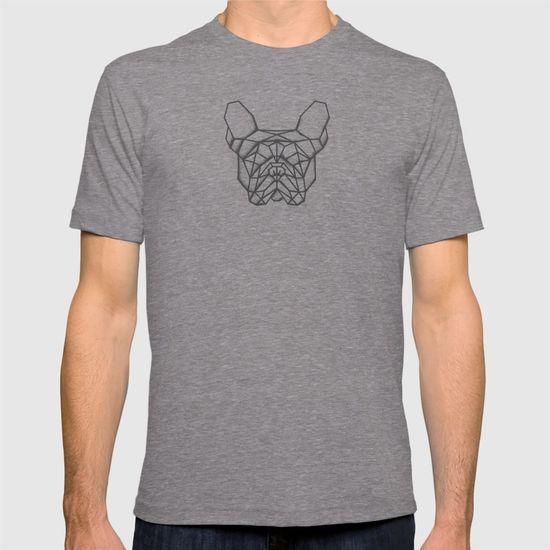 Fench Bulldog Geometric Sketch T-shirt. #FrenchBulldog #bulldog #Geometric