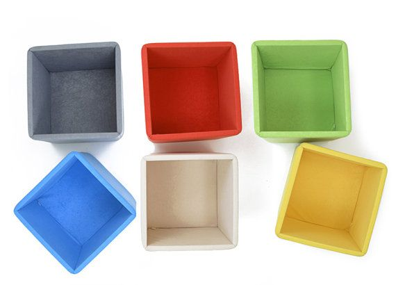 6 soft toy storage baskets  priority shipping  BOXes cube