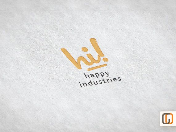 Happy Industries premade logo design Etsy Set by GraphicOverdrive, $14.95
