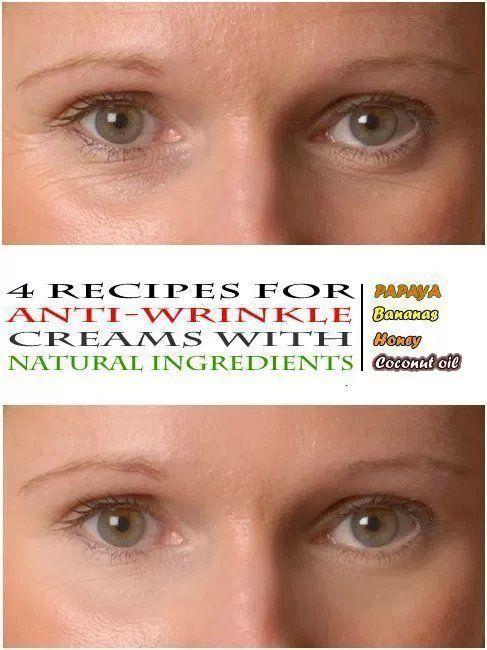 Recipes for an anti-wrinkle cream #facecreamsforwrinkles #homemadewrinklecreamsnatural