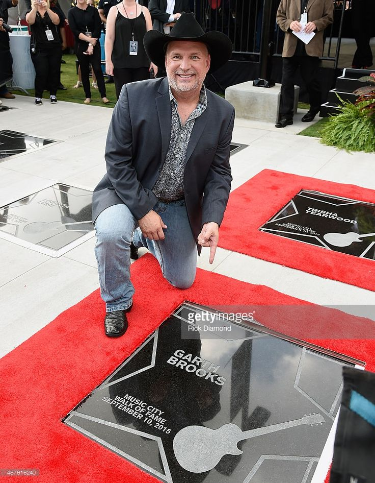 Garth Brooks and Trisha Yearwood are Inducted Into The Nashville Walk Of Fame. (pictured) Garth Brooks on his Star at the Nashville Music City Walk of Fame on September 10, 2015 in Nashville, Tennessee.