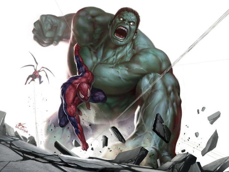 #Hulk #Fan #Art. (Hulk vs Spiderman) By: Zblack1. (THE * 3 * STÅR * ÅWARD OF: AW YEAH, IT'S MAJOR ÅWESOMENESS!!!™)[THANK Ü 4 PINNING!!!<·><]<©>ÅÅÅ+(OB4E)   https://s-media-cache-ak0.pinimg.com/564x/6c/99/64/6c9964fddd0822fde090d693952a3377.jpg