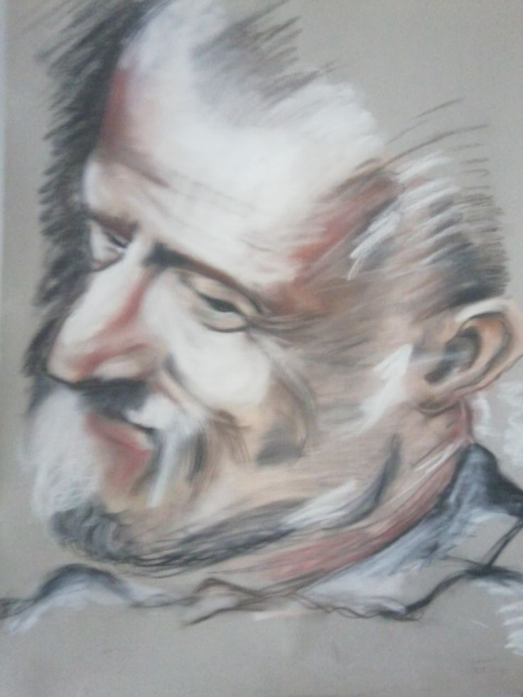 Barocci, portait chalk pastels A1