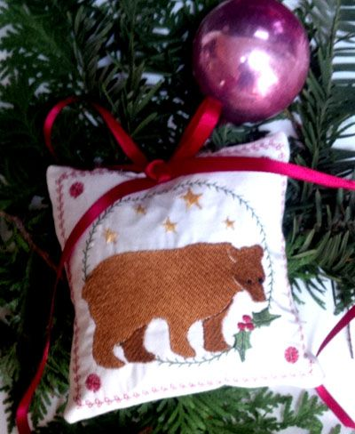 christmas-bear-ornament Free Embroidery Designs at the Madwoman of Locke Street