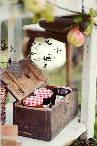 <3: Idea, Autumn, Food, Homemade Jams, Country Living, Wooden Boxes, Country Life, Countrylife, Country Charm