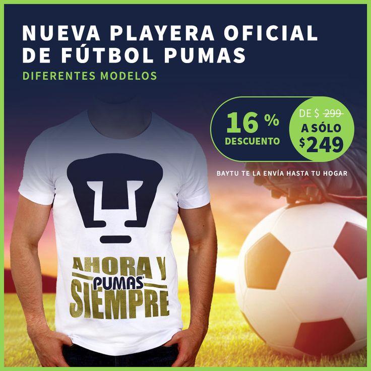 Por siempre orgullo Azul y Oro <3 ¡Nueva playera oficial Pumas a un super precio! #OrgulloAzulYOro #Pumas #UNAM  https://baytu.mx/hombre/1063-playera-de-f%C3%BAtbol-del-equipo-pumas.html ⚽⬅