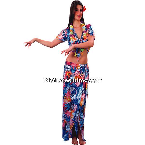 Tu mejor disfraz hawaiana para mujer adulto.Sorprende con este original y divertido disfraz en tus fiestas temáticas y de carnaval