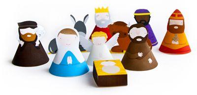 Kid Crafts ~ Print and Build Nativity SetHoliday, Christmas Crafts, Paper Native, Christmas Native, Native Scene, Native Crafts, Nativity, Printables Native, Native Sets