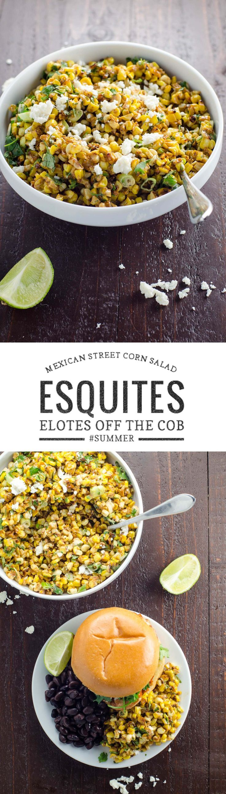 Esquites, or Mexican street corn salad, is a wonderful savory side dish that you won't be able to get enough of. It's quick to make and scales beautifully. via @umamigirl
