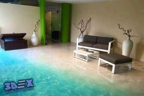 3d epoxy floor, 3d flooring, 3d beach floor art for living room  All Secrets on 3D Epoxy Flooring and 3D Floor Art Designs  What should you know about 3D Flooring Before Buying and How to install 3D floor art yourself in your home, hotel, business place, or club, 3D epoxy flooring cost, Three-dimensional flooring designs ideas for each room by global designers
