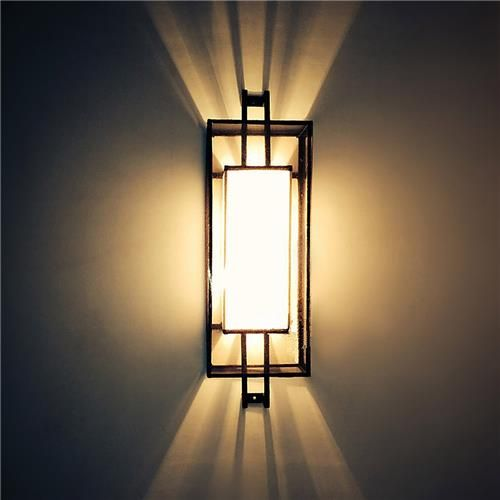 Pendant Lamp Shade Southeast Asia Modern Hand-made Art Style Creative Vantage Wall-mounted Light -Black