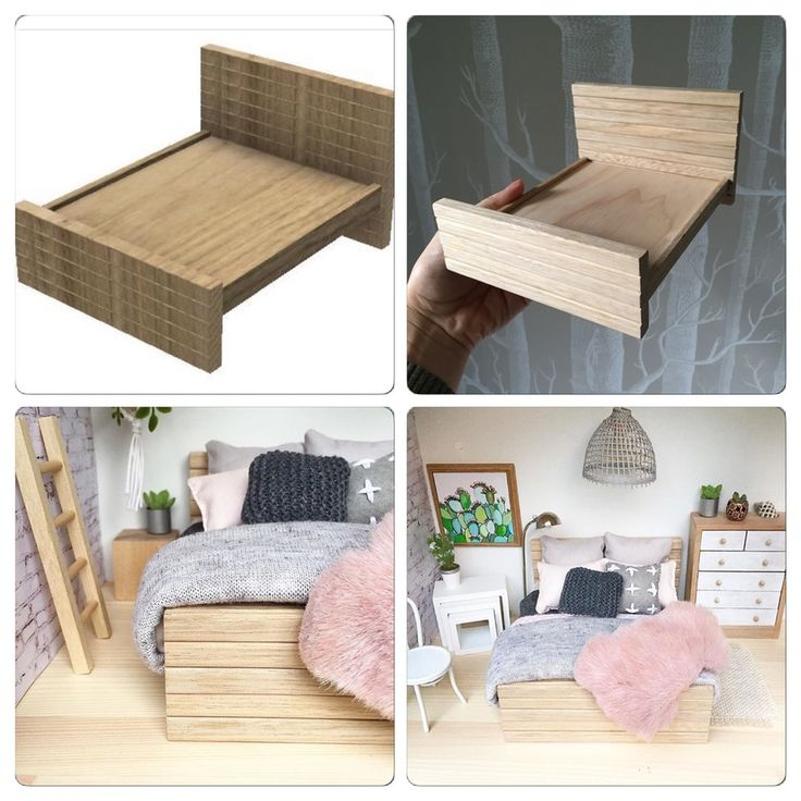 Image of Modern wooden bed (queen and single)