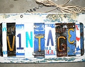 Cool new signs made with license plates!