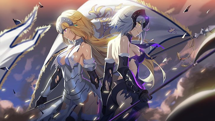 Two White And Yellow Haired Women Anime Characters Wallpaper Hd Wallpaper In 2020 Anime Character Wallpaper Anime Wallpaper