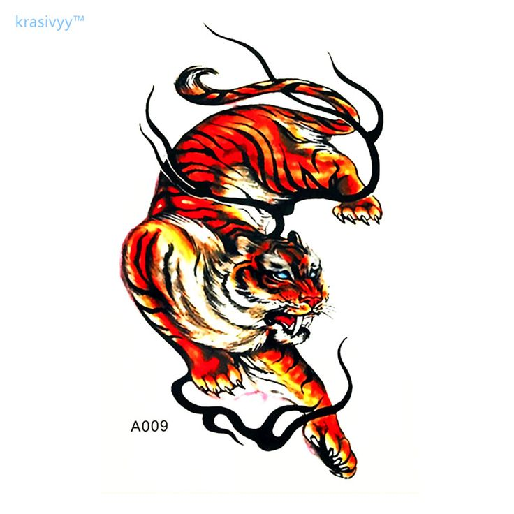 2017 High Quality tiger Cool Tattoo Waterproof Hot sales Temporary fakeTattoo arm Stickers for men boy  free shipping #Affiliate