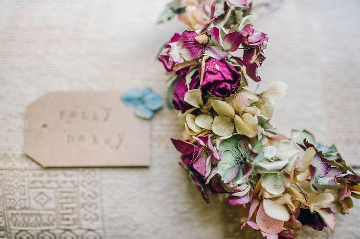 Dried flower floral crown. Photography by http://www.jessicareeve-photography.com/
