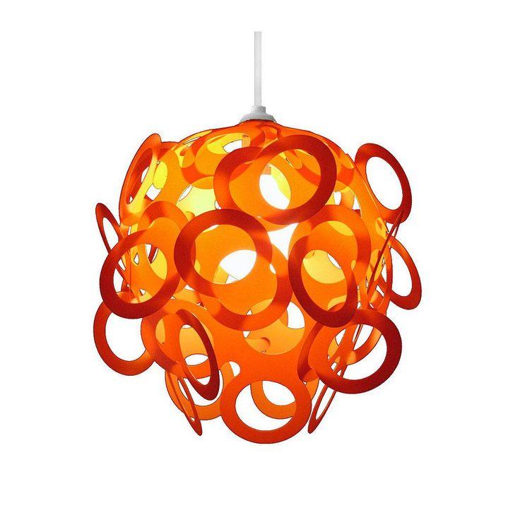 Loopy-Lu Orange Lamp Shade designed by Lothair Hamman – Funky Lamp Shades