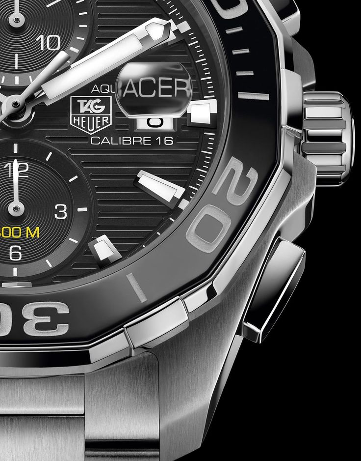 TAG Heuer Aquaracer 300M Ceramic Automatic Diver (stainless steel, ref. CAY211A-BA0927, dial fragment)