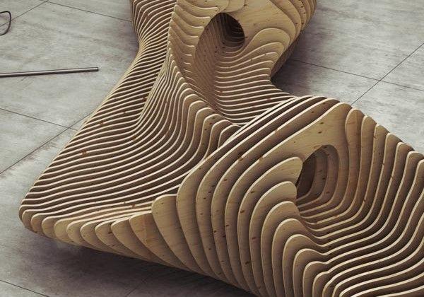 plywood parametric bench... by Oleg Soroko