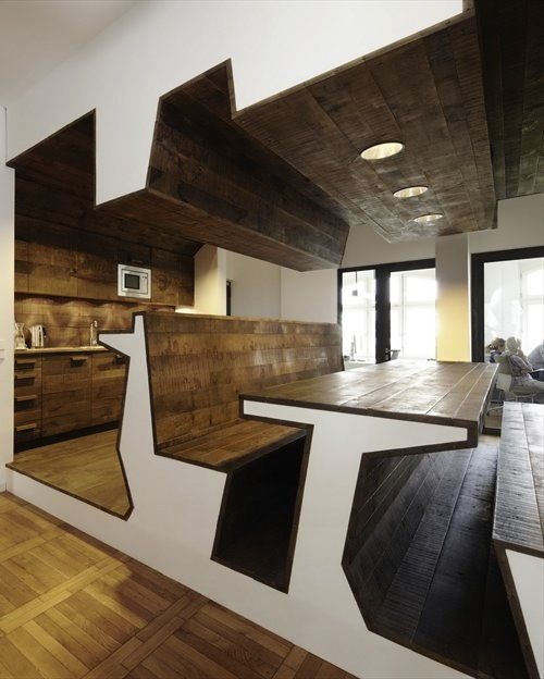 Contemporary Office Interior Design U2013 Unique Shaped Furniture Of Staff Cafe  And Lounge U2014 Clean Contemporary Office Interior Design Of Jung Von Matt  Agency, ...