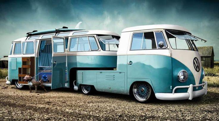 UMA ÓTIMA IDEIA QUE DE MALUCA NÃO TEM NADA – Quem for louco por aventuras tem neste trabalho de Photoshop uma bela ideia para construir um trailer e sair rodando pelo mundo. Adaptar duas velh…