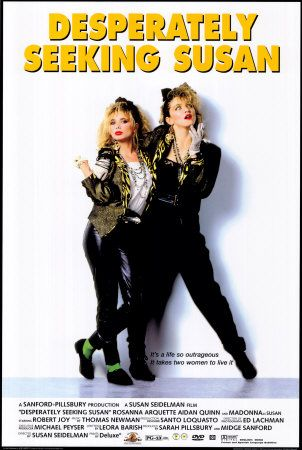 80s movie posters | Desperately Seeking Susan   I love this movie!!!! Don;t want the poster but want the movie!!!!