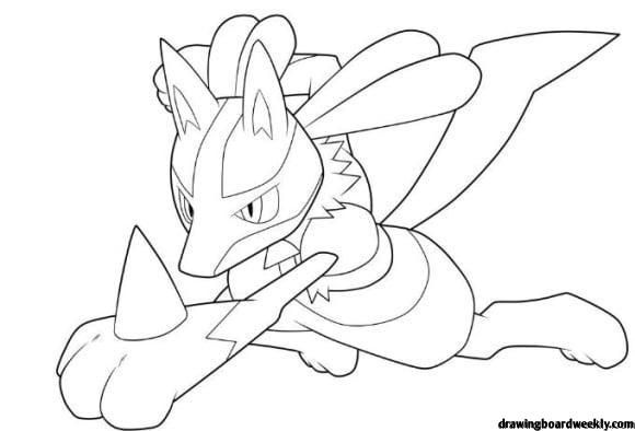 Lucario Coloring Page Pokemon Coloring Pages Coloring Pages Pokemon Coloring