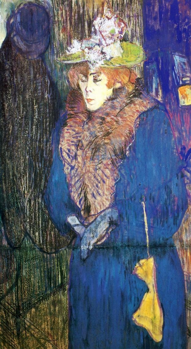 Painting By Toulouse Lautrec Jane Avril Entrant Au Moulin Rouge