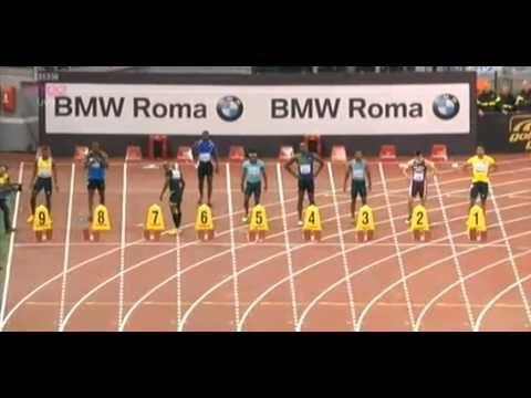 Justin Gatlin Beats Usain Bolt 100m - 9.94 - Golden Gala Rome Diamond League 2013