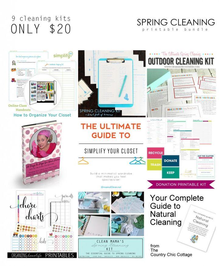 Spring Cleaning Printable Bundle Sale