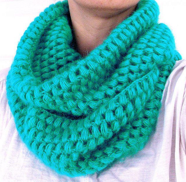 crochet cowl( puff stitch) by lorka., via Flickr