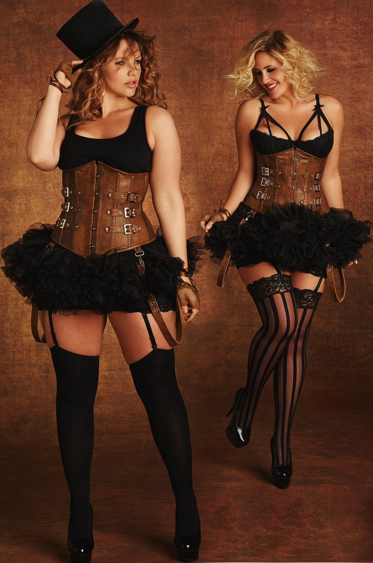 Steampunk Fashion Underbust Corset Plus Size