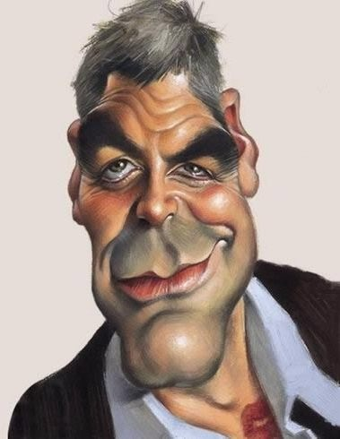 #George_Clooney #Caricature - http://dunway.us                                                                                                                                                     More