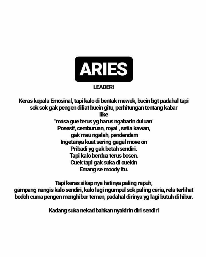 4 Hal Tentang Aries