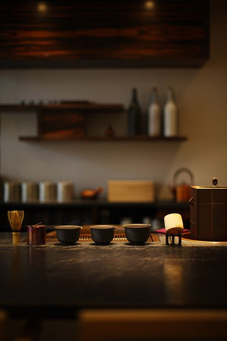 The teahouse attached to ori Hagayashi, a gift store and teahouse, in Tokyo. Via simplicity.co.jp