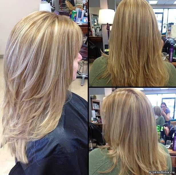 длинные волосы причёска слоями