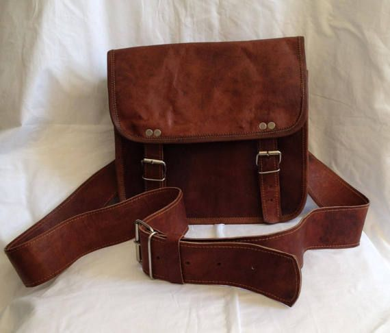 New 25cm Genuine Leather Brown Satchel Shoulder Bag in Two