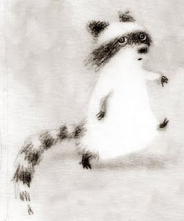 Raccoon Drawing | Renee French drawing (striding raccoon) | Illustration
