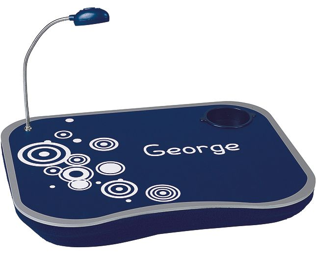 Child's Lap Desk   Busy little bees will love this – their very own lap desk complete with LED spot lamp, plus cup and pen holders! Great for getting creative, homework, teatime and all sorts, the wipe-clean laminate desk is fixed to a comfy bead-filled cushion.   £19.95   See more Personalised Gifts for Kids at theoriginalgift.co.uk