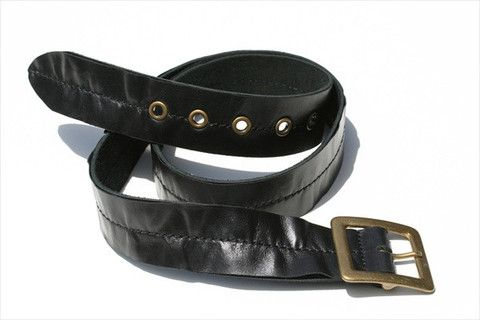 centre stitch belt - black stitch